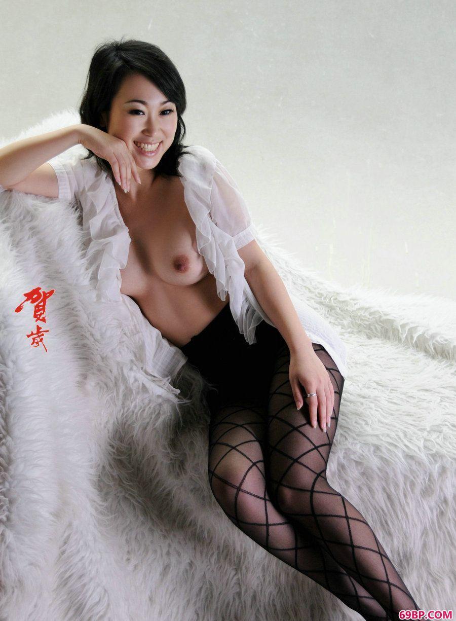 贺岁系列苏蕾黑丝人体写真